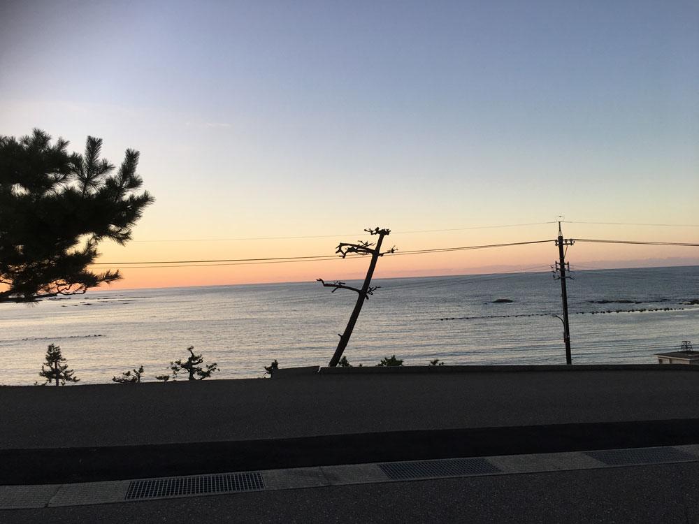 輪島市の夕焼け