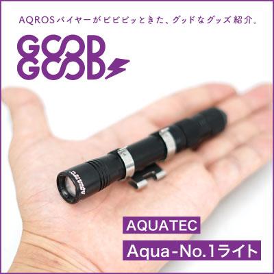 48gの小さな巨人!ダイビングマスクにも取り付けられる水中ライト「AQUATEC Aqua-No.1ライト」